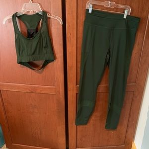 Varley green yoga outfit